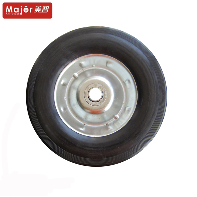 10x 2.5 250mm solid wheel rubber castors and wheels for electric scooter/skateboard/wheelbarrow with CE certificate
