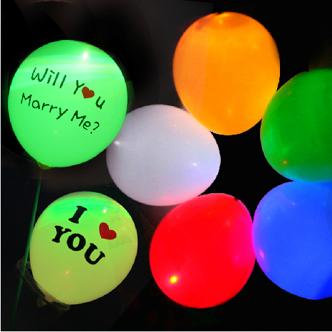 Glow in the Dark Party Supplies Blinking LED latex baloon for party
