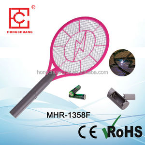 MHR-1358F ABS 21cm three layer net 2800V battery operated safety industrial diy bug zapper electric fly