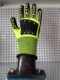 high quality SAFETY Cow latex palm and impact gloves in letax working glove safety hands gloves