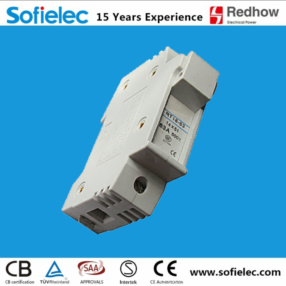 High quality 32A AC 500V Mounting fuse bases for cylindrical fuse links CE certificate