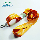 Custom logo printing neck lanyard with metal bottle opener