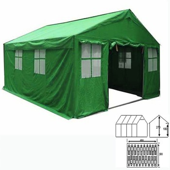 20 person military outdoor spirit house shape red cross tent instruction