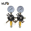 double gauge co2 gas pressure reducing valve regulator