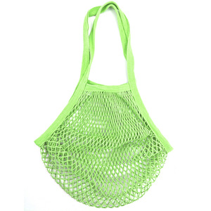 Reusable 100% Cotton Beach Mesh Net Drawstring Produce Bag