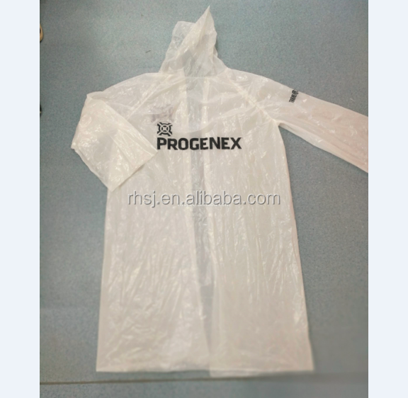 China New Design Waterproof Reusable Disposable Vinyl Raincoat/Rain Poncho with Sleeves