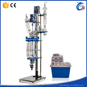 S212-2L Jacketed Glass Pyrolysis Reactor with PTFE Seal