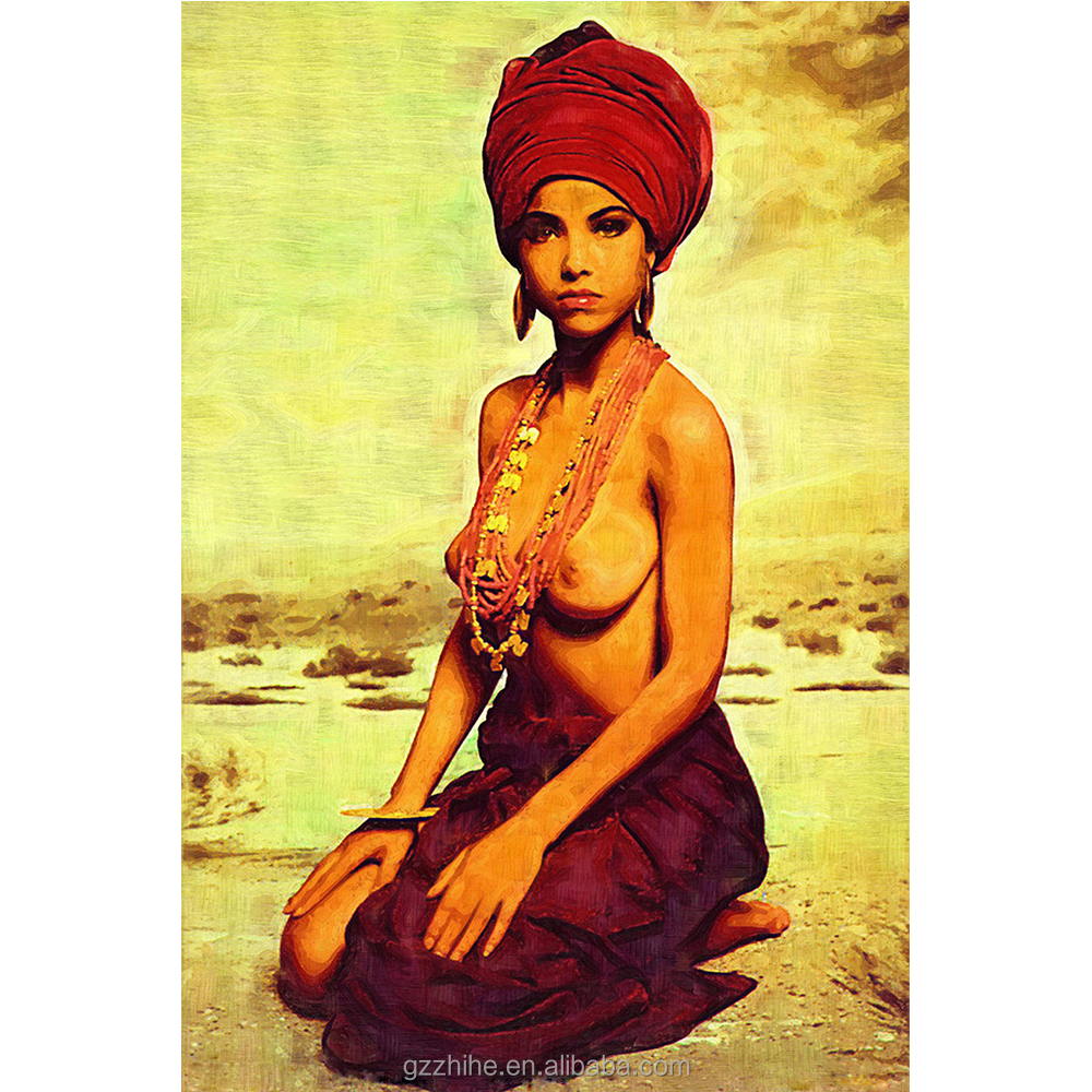 Nude art woman body painting indian nude art painting hot sale in alibaba