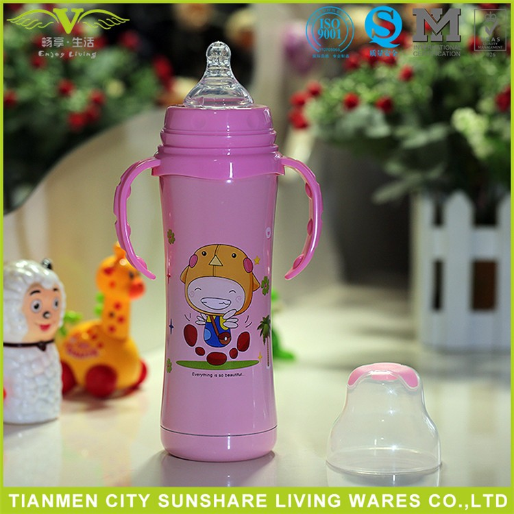240ML/8OZ Double Layer Insulation Design Stainless Steel Baby Bottles