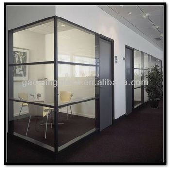 ClearFrosted Tempered glass panels used for interior office