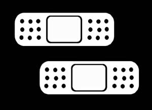 (Pack of 2) iJDMTOY JDM Style Band-Aid Die-Cut Decal Vinyl Stickers