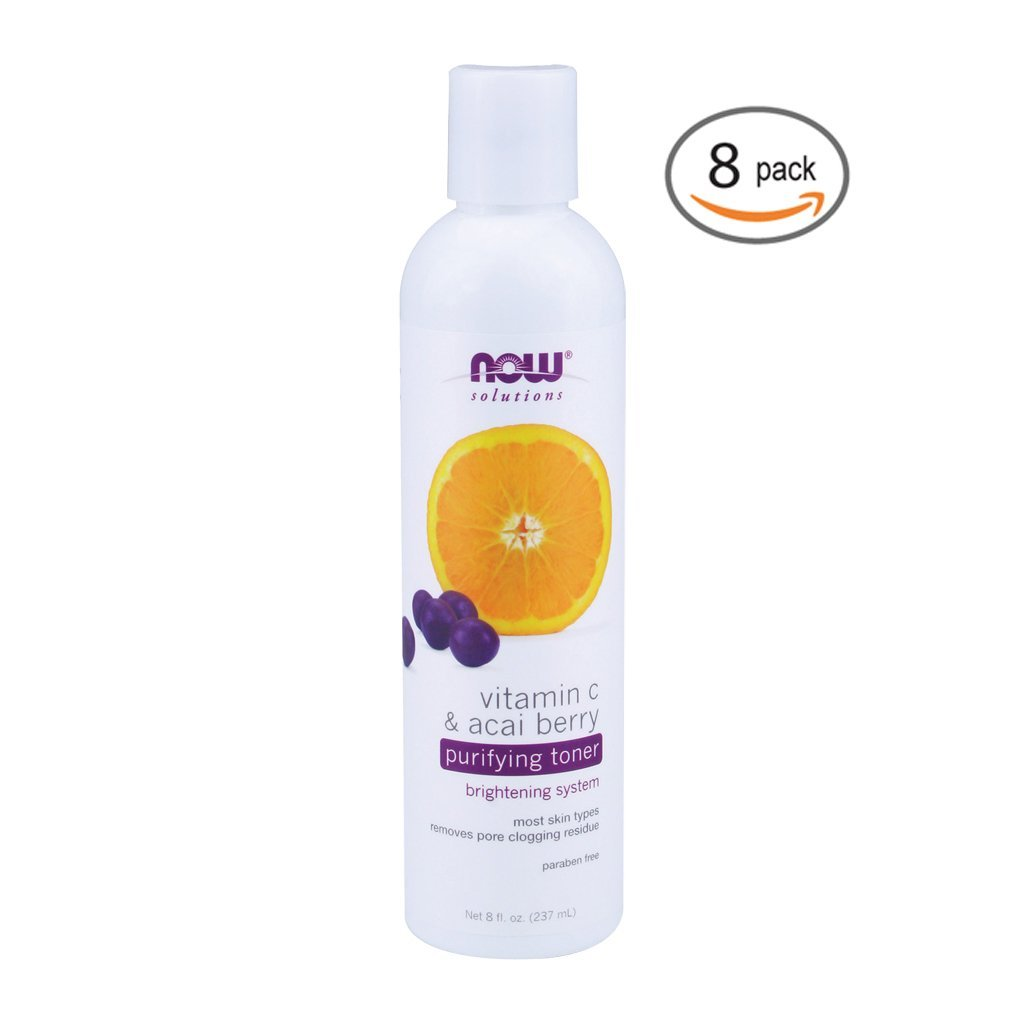 Now Foods Vitamin C & Acai Berry Purifying Toner - 8 fl. oz. 8 Pack