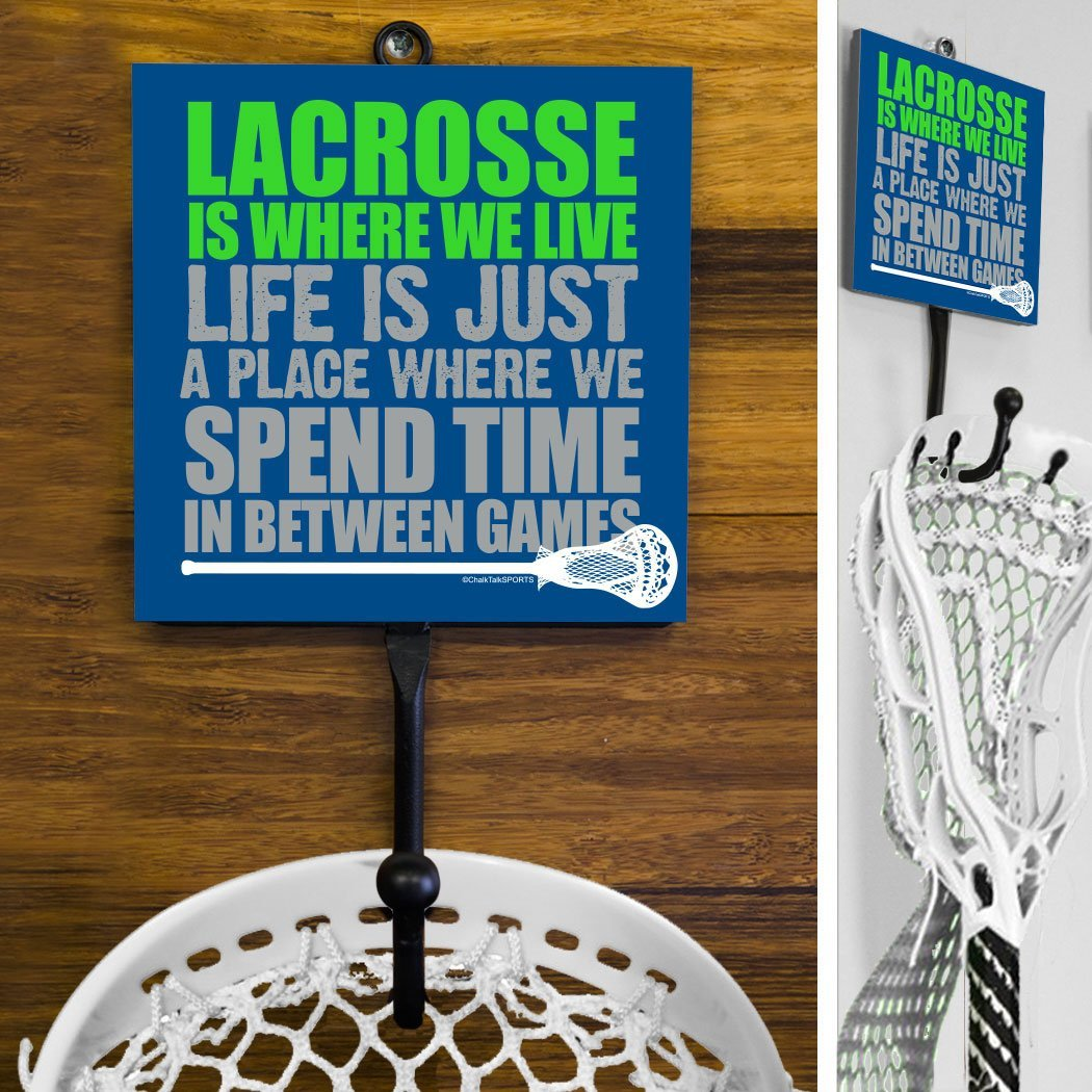 Lacrosse Sport Hook Lacrosse Is Where We Live with Guy Stick