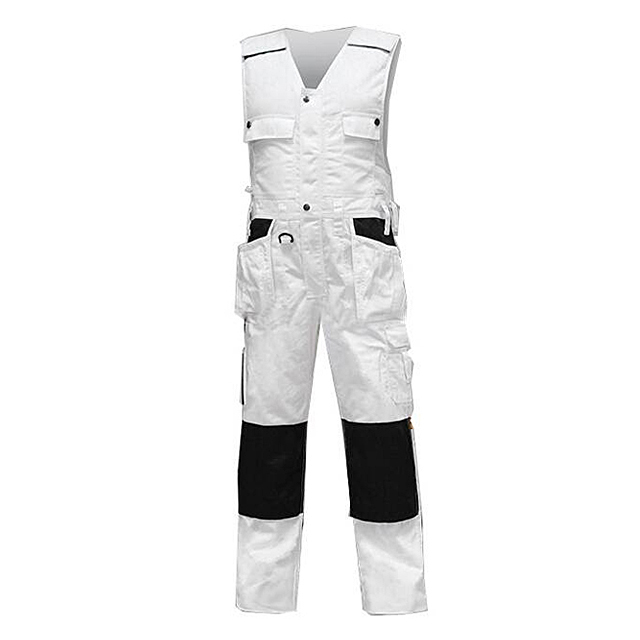 Painters Work Trousers With Codura Pockets And Zippers, Durable Cargo Work Pants Contrast Cordura Knee Pads