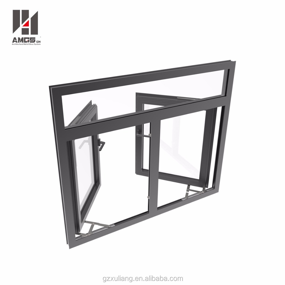 hot sales aluminum hurricane impact glass casement windows for house
