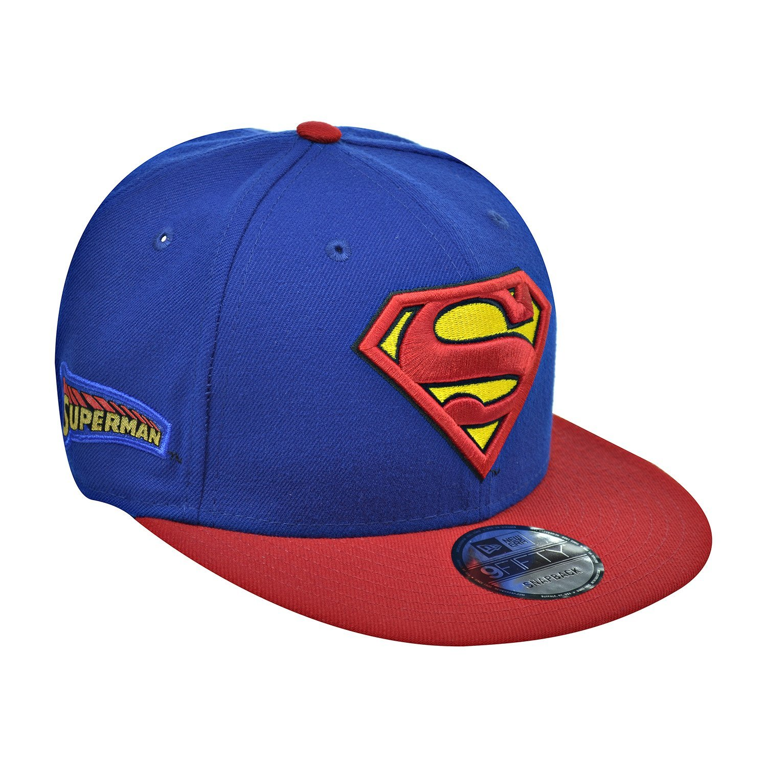 4c77f07de86 Get Quotations · New Era Superman Team Patcher 9Fifty Men s Snapback Hat  Cap Blue Red 80401381