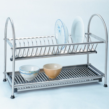 Kitchen Stainless Steel Table Dish Drying Rackstorage Table Dish - Stainless steel table with storage