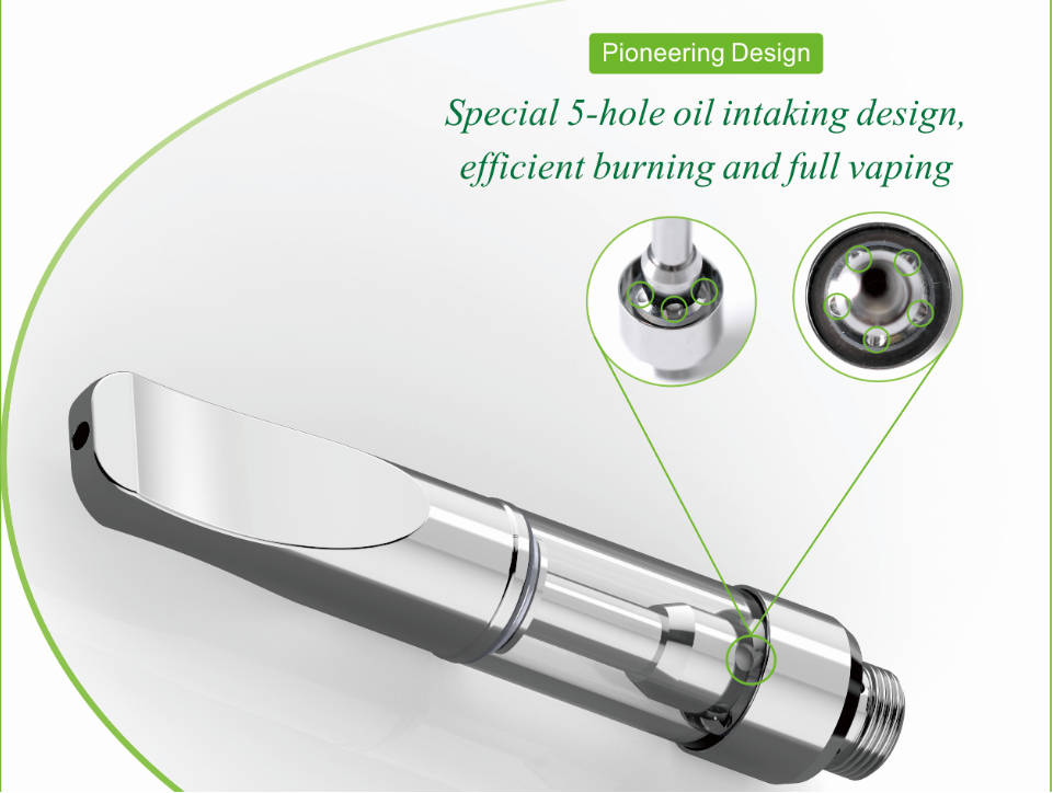 Transpring Original CBD oil vape pen e cigarette A3 .5ml 1ml Metal Glass CBD Oil vaporizer