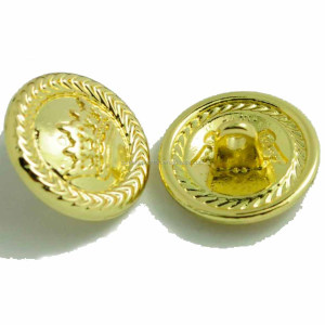 custom alloy material metal fancy sewing shirt button