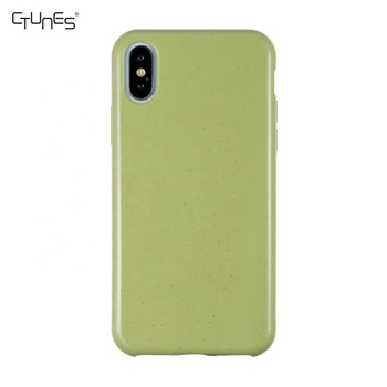 Wheat Straw TPU Eco Friendly Recycled Biodegradable Phone Case Mobile Cover For iPhone 7 8 Plus X XR XS Max