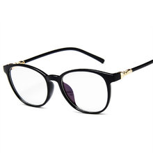 Модные очки прозрачные, оправа для Для женщин Винтаж прозрачные круглые очки женские Пластик прозрачные оправы для очков E063(Китай)