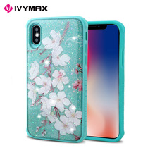 Guangzhou smartphone accessories glitter for iphone x tpu pc phone case luxury