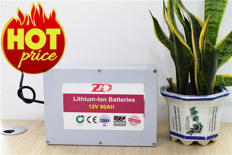 LifePo4 cell whosale manufacturer 12v 80ah for solar