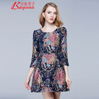 Women clothing plus size floral dress fabric summer women dresses casual