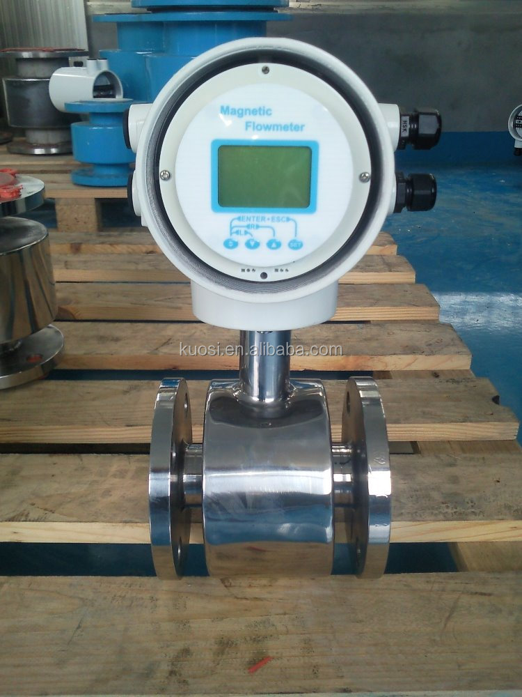 electromagnetic flowmeter 316L DN50/ 4-20mA output water electronic flow meter