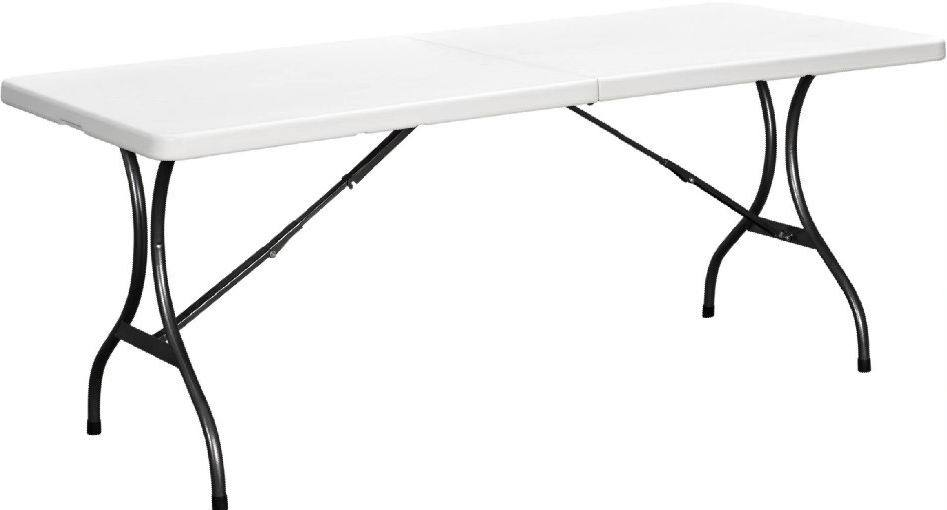 6ft & 8 ft plastic folding table and chair for camping or event folding plastic folding table for camping