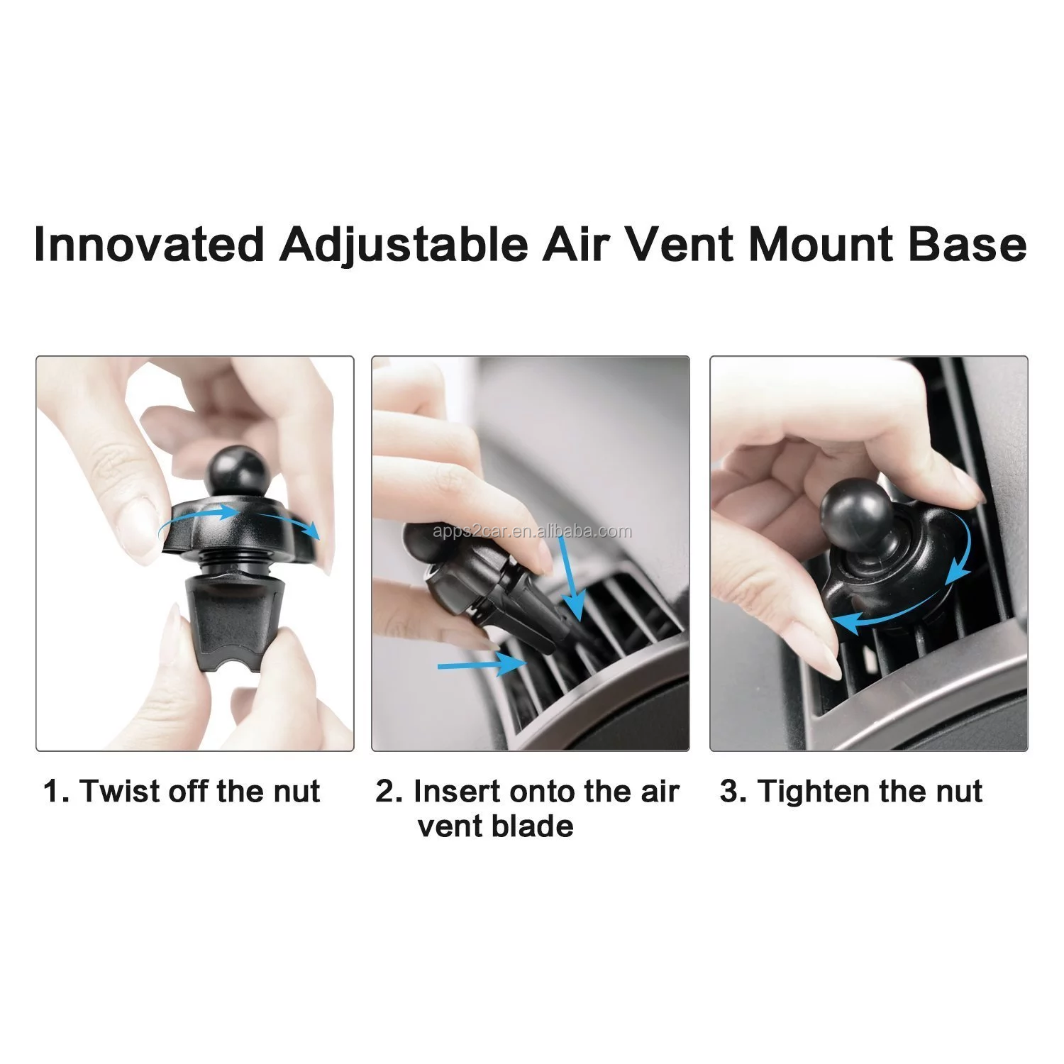Mobile phone accessories dubai newest design  magnetic mobile cell phone stand air vent mount car phone mount holder