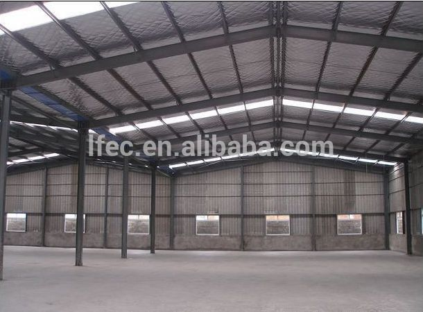 Prefabricated steel roof trusses for industrial building for Prefabricated roof
