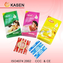 Bulk flavored thick condom with print