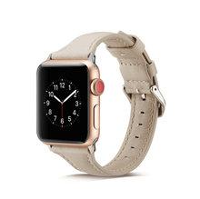 Женский ремешок для часов Apple Watch Band 40 мм 44 мм 38 мм 42 мм из натуральной кожи для Apple iWatch Series 5 4 3 2 ремешок браслет T Style(China)