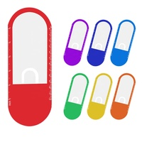 Hot selling OEM logo printed oval shaped PP plastic 5 inches scale rule card type decorative bookmark 10 times magnifying glass