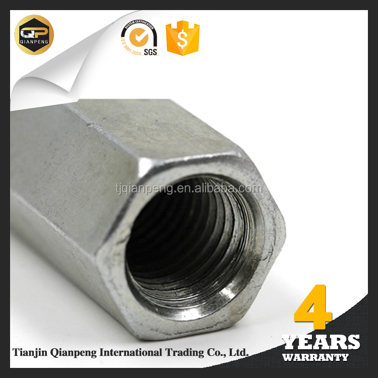 Online wholesale shop hex coupling nut long nut new products on china market 2016