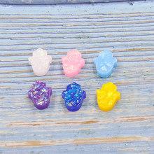 Fnixtar синтетический опал Хамса рука Европа Фатима Шарм для женщин ожерелье и браслет DIY 12*14 мм без отверстия 20 шт./лот(Китай)