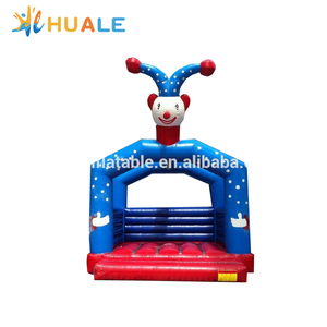 Blue inflatable clown castle inflatable jumping bouncer inflatable toys