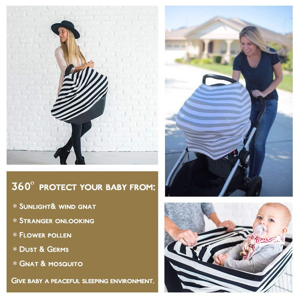 Bufanda multiusos color gris 100/% algod/ón Infinity Funda para lactancia materna