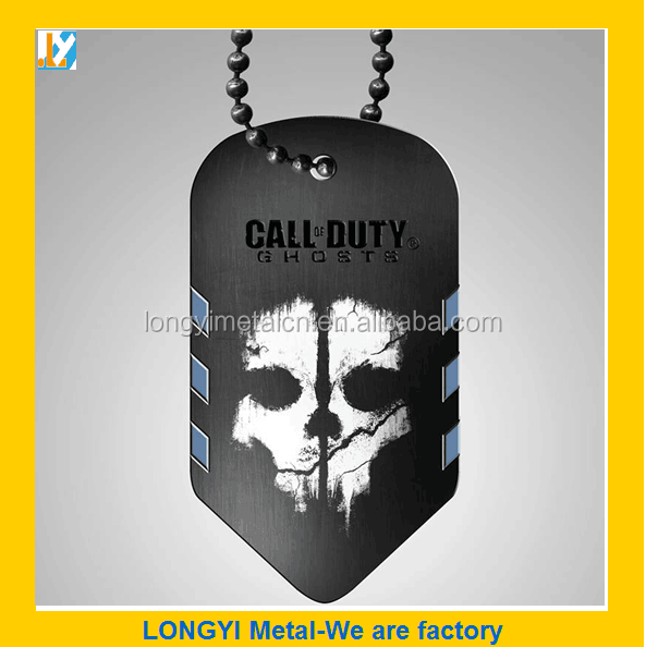 Top Selling Dog tag Metal Tag with Ballchain