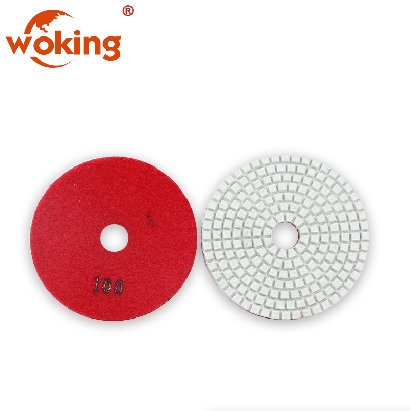 "4"" flexible concrete floor dry polishing pad"