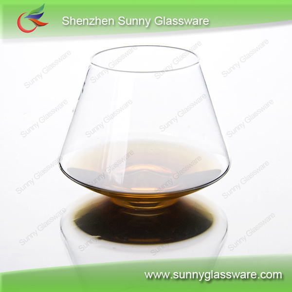 Wholesale hand blown whisky wine glass cup