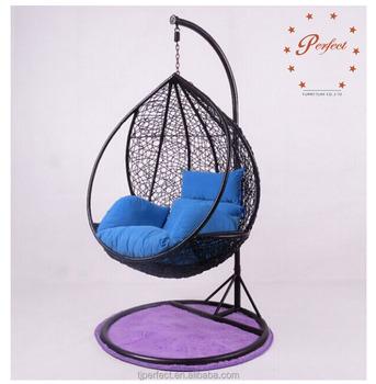 Ratan Rattan Egg Shaped Swing Chair Adult Teardrop Indoor Bamboo Wicker  Hanging Single Seat Swing Chair