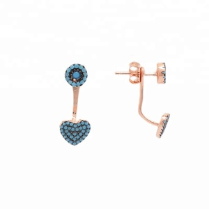 High quality 926 silver turquoise earrings women