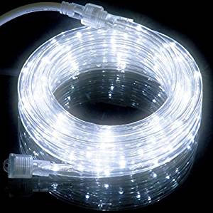 Katop 16 FT LED Flexible Rope Lights Kit For Indoor / Outdoor Lighting, Home, Garden, Patio, Shop Windows, Christmas, New Year, Wedding, Party, Event (16.4 FT, Cool white)