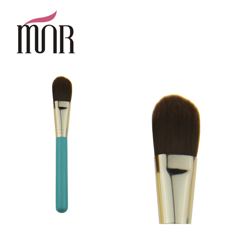 Nature fine synthectic hair foundation powder brush for makeup