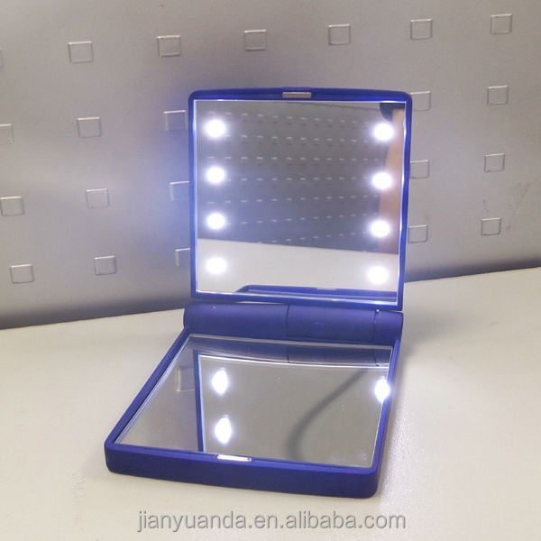 Led Light Up Foldable Table Mirror / Make Up Vanity Portable ...