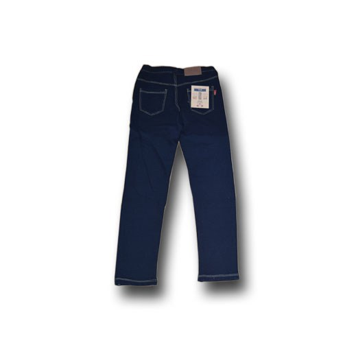 navy long skinny pants with high elastic for girls