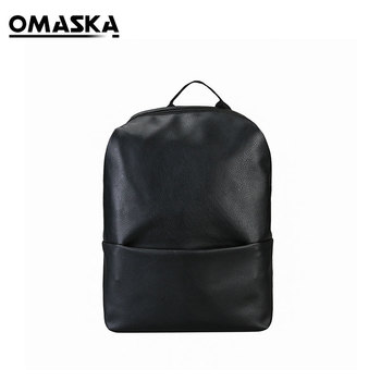 WaterproofPU Black Travel Bag Men Fashion Unique Backpack Leather PU