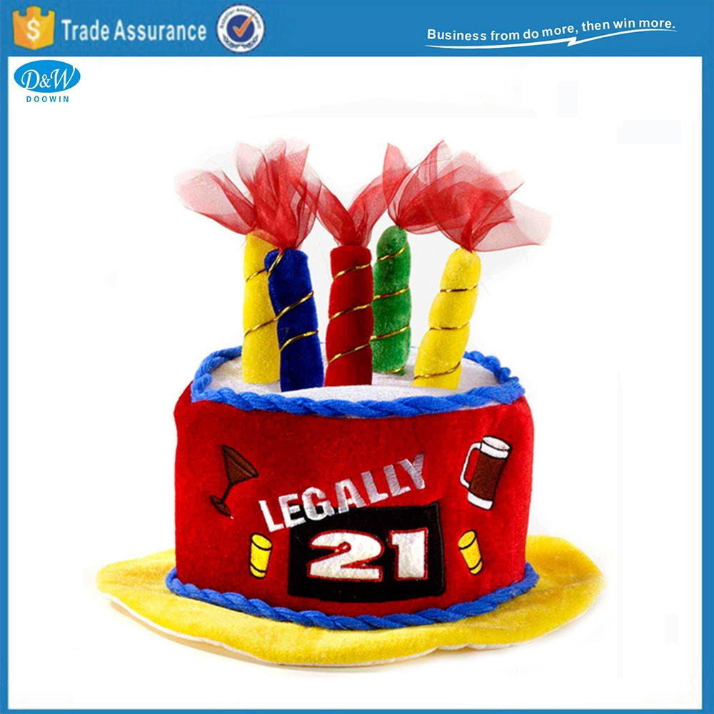 Legally Happy 21st Birthday Party Favor Costume Gift Crazy Shaped Cake Hats